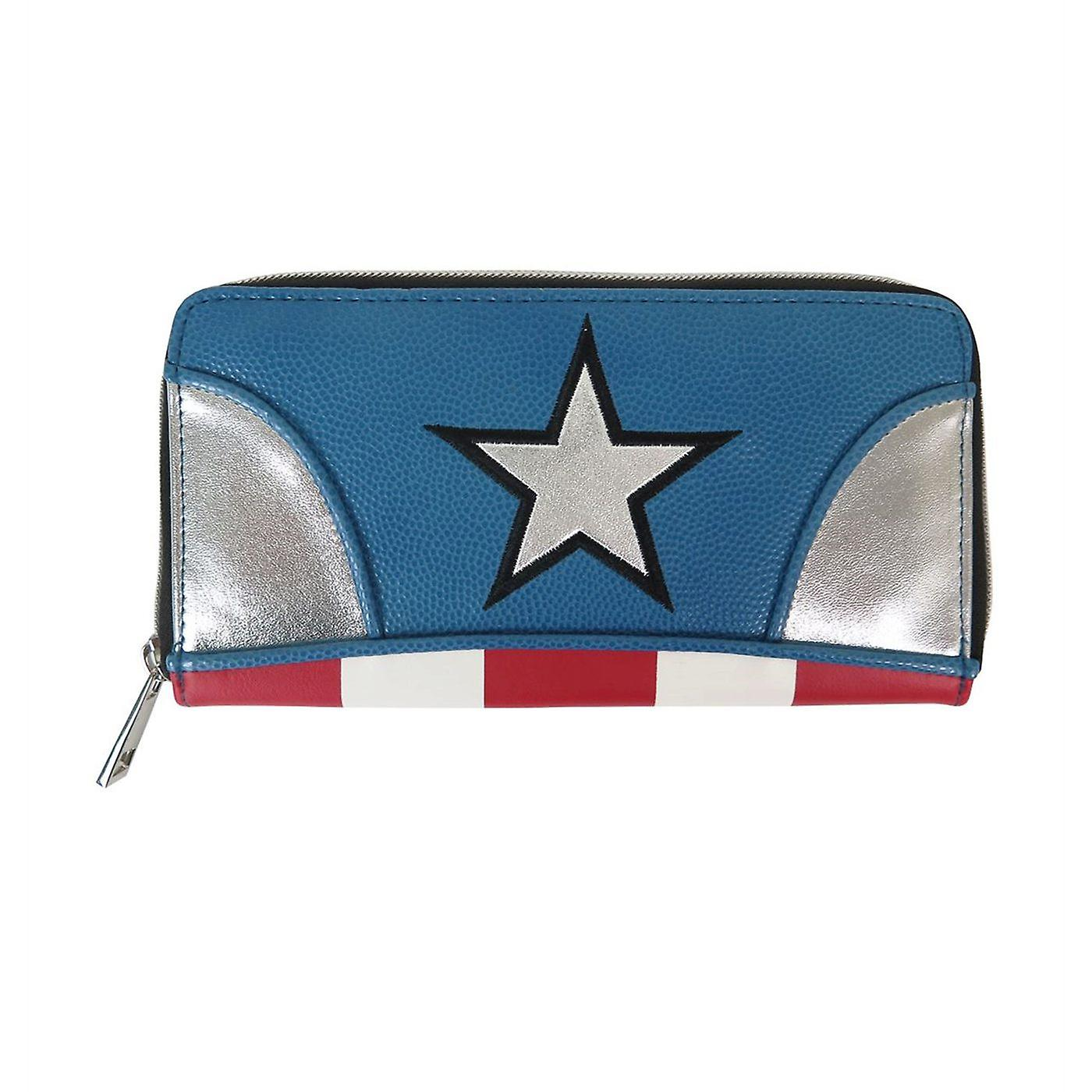 Captain America Suit Up Women's Zipper Wallet