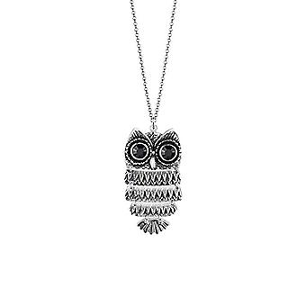 Elli Halskette mit Silber Frau Eule Anhänger 925 - 70 cm