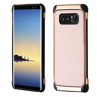 ASMYNA Rose Gold Lychee Grain(Rose Gold Plating)/Black Astronoot Protector Cover  for Galaxy Note 8