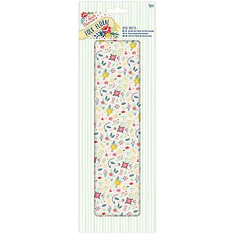 Papermania Folk Floral Deco Sheets 3/Pkg-Wildflowers PM169212