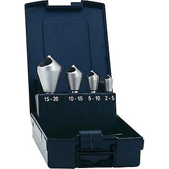 Diagonal hole countersink set 4-piece 10 mm, 14 mm, 21 mm, 28 mm HSS-E Exact 05426 Cylinder shank 1 Set