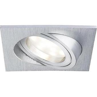 LED flush mount light 7 W Warm white Paulmann Coin 92838 Aluminium (brushed)