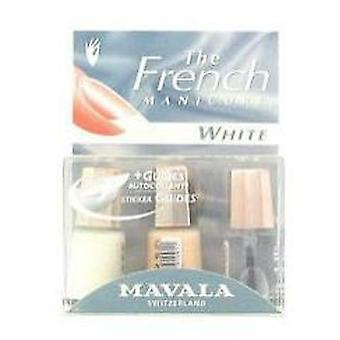 Mavala Kit De Manicura Francesa Natural White 3 X 5 Ml + Guias