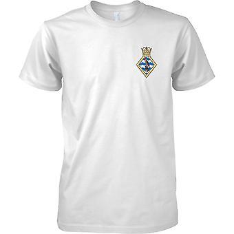 HMS Seahawk - Royal Navy Ufer Einrichtung T-Shirt Farbe