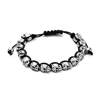 Jewel City Metal Bracelet With Calaveras