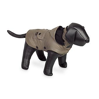 Nobby Mellow Dog Coat Taupe With Hood 32cm