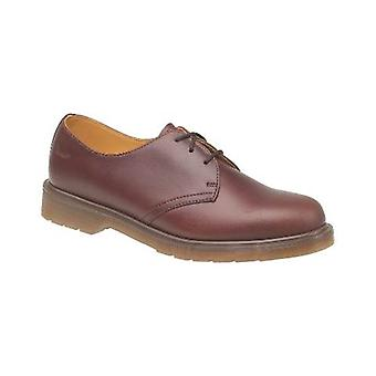 Dr Martens 1461PW Classic Tan Mens Shoes Textile Leather PVC Lace Up Fastening