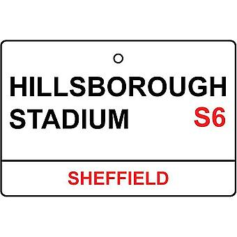 Sheffield Wednesday / Hillsborough Stadium Street Sign Car Air Freshener