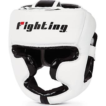 Fighting Sports S2 Gel Full Face Training Boxing Headgear - White/Black
