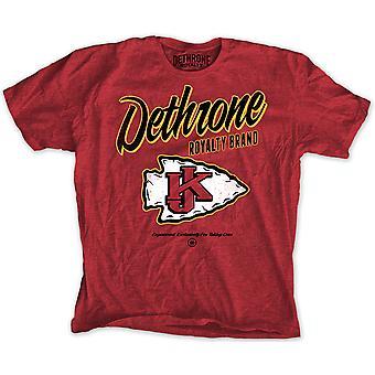 Detronisere Krause T-Shirt - rød Lyng