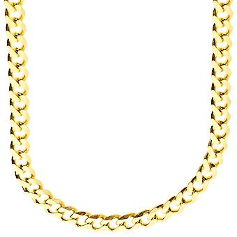 Sterling 925 Silver curb chain - CURB 6, 7 mm gold