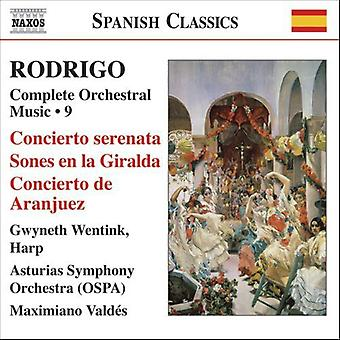 J. Rodrigo - Rodrigo: Kompletta orkesterverk, Vol. 9 [CD] USA import