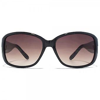 Carvela Medium Wrap Sunglasses In Black