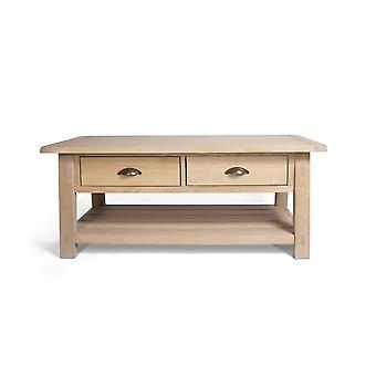 Direct Home Living Oak Coffee Table With Drawers