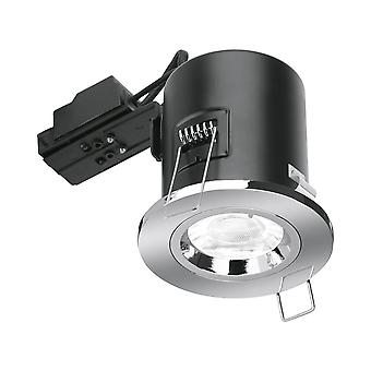Aurora GU10 Fire Rated Fixed Downlight - Nickel