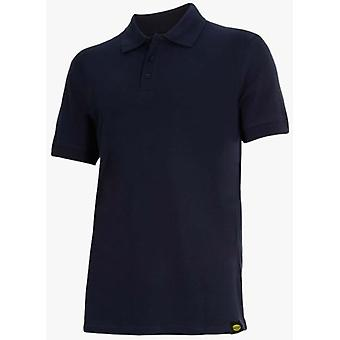 Utility Diadora Short Sleeve Polo II Blue Atlar