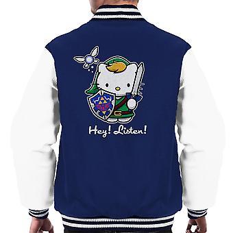 Hey lytte Link Hello Kitty Zelda mænds Varsity jakke