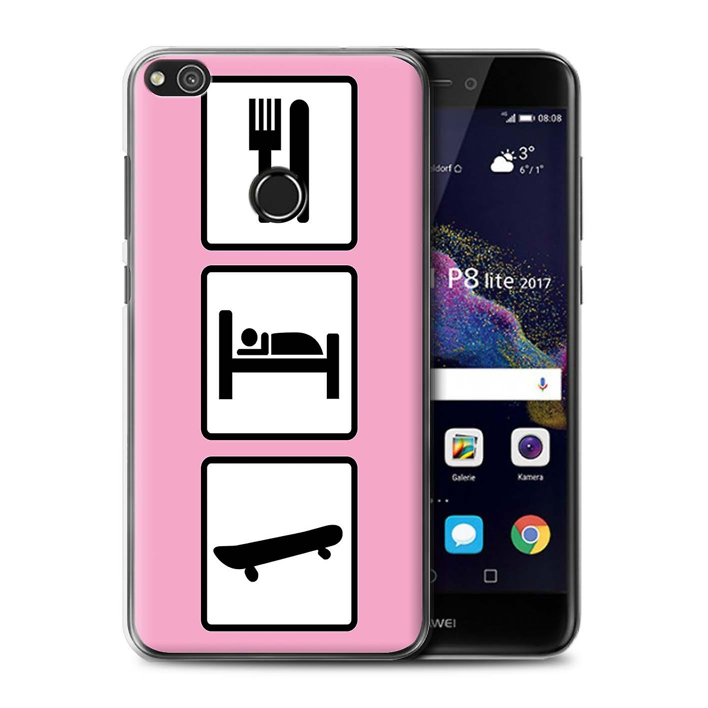 Stuff4 t l phone housse pour huawei p8 lite 2017 skate for Housse huawei p8 lite 2017