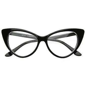 Super Cat Eye Glasses Vintage Inspired Mod Fashion Clear Lens Eyewear