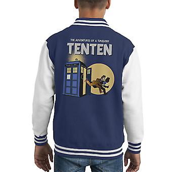 Doctor Who Tim und Struppi zehnten Doktor Mashup Kid Varsity Jacket