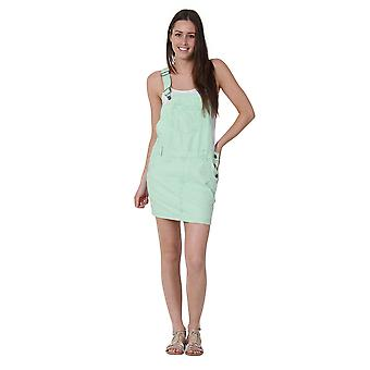USKEES CLAIRE Short Oversized Dungaree Overall Dress - Mint Relaxed Loose Fit Bi
