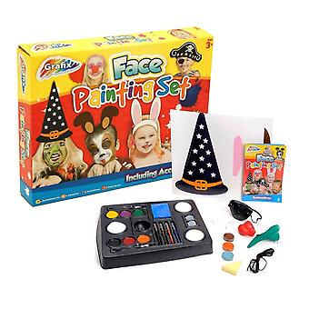 Grafix Children's Fun Face Painting Set Including Accessories Age 3+