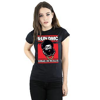 Run DMC Women's Santa Christmas T-Shirt