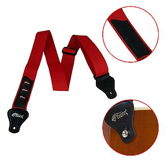 Guitar Strap with Plectrum Holders in Red