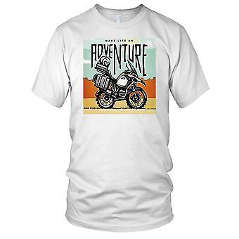 BMW GS1200 Motorcycle Motorbike Bike Make Life An Adventure Mens T Shirt