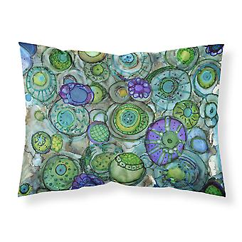 Abstract in Blues and Greens Fabric Standard Pillowcase