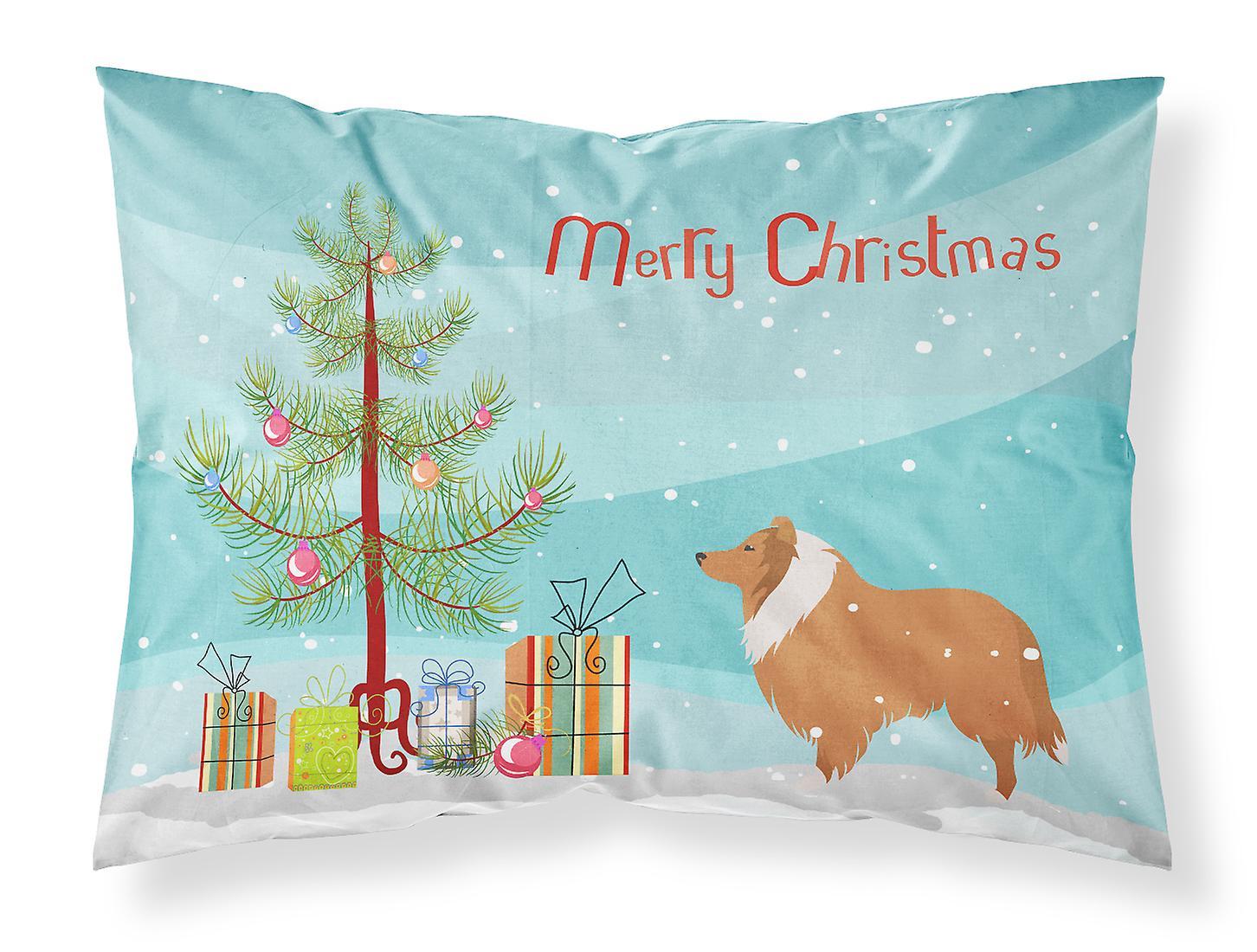 Du chien Christmas Standard Taie Tree D'oreiller merry Tissu Collie cq4AL3RjS5