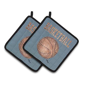 Carolines Treasures  8486PTHD Basketball Pair of Pot Holders