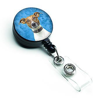 Carolines skarby KJ1226BU-BR Jack Russell Terrier chowany odznaka bębnowa