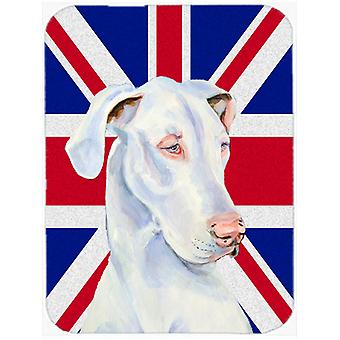 Great Dane with English Union Jack British Flag Mouse Pad, Hot Pad or Trivet