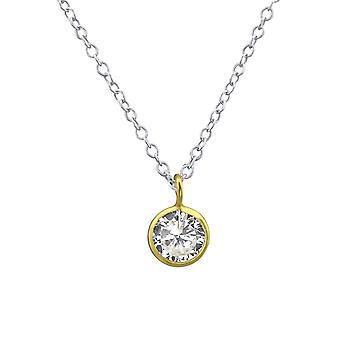 Circle - 925 Sterling Silver Jewelled Necklaces