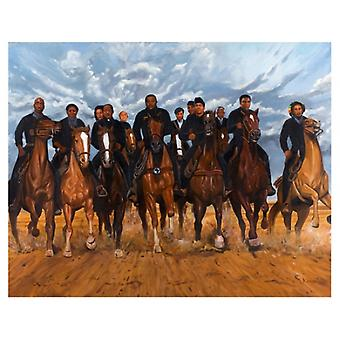 Freedom Riders Poster Print by Kolongi Brathwaite (10 x 8)