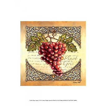 Wine Grapes I Poster Print by Sydney Wright (10 x 13)