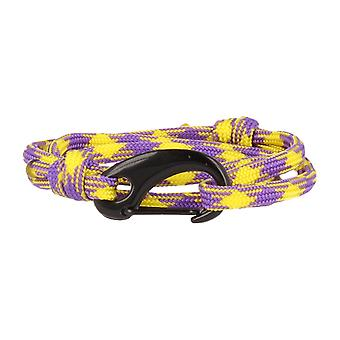 Vikings bracelet lobster clasp black purple yellow