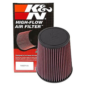 K&N RF-1015 Universal Clamp-On Air Filter: Round Tapered; 4 in (102 mm) Flange ID; 7 in (178 mm) Height; 6 in (152 mm) B