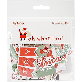 Oh What Fun Mixed Bag Cardstock Die-Cuts 52/Pkg-Oh What Fun FNC116