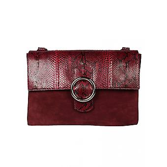 Orciani B01996 ladies red leather shoulder bag