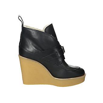 Chloé women's CH25111 black leather ankle boots