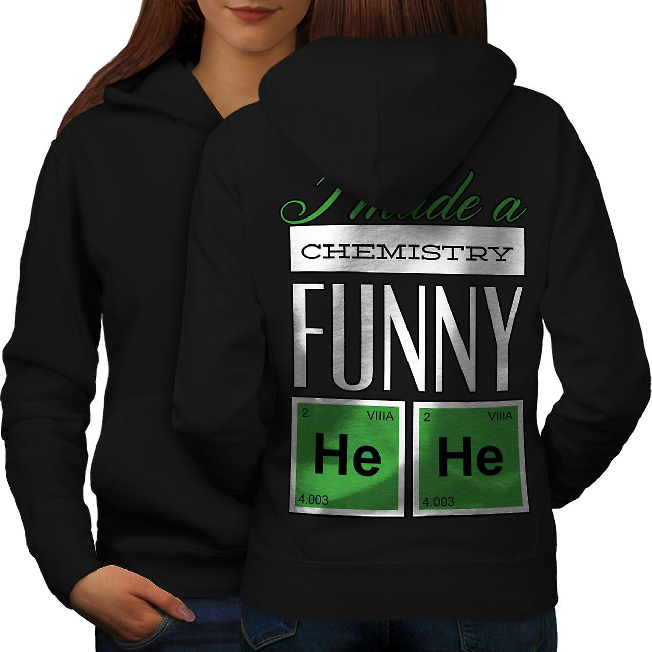 Funny Chemistry Geek Women BlackHoodie Back | Wellcoda