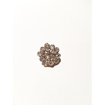 Light gold and silver brooch