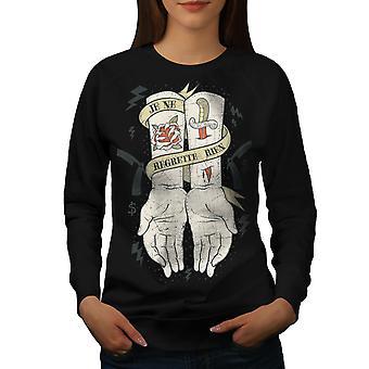 Regrette rien mode pour femmes BlackSweatshirt | Wellcoda