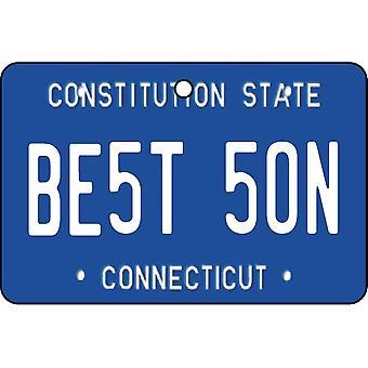 Connecticut - beste zoon kenteken auto luchtverfrisser