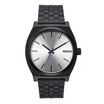 Nixon Time Teller preto / prata (A045180)
