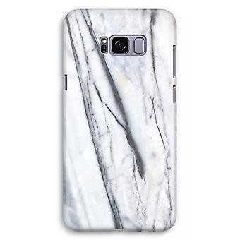 Samsung Galaxy S8 Plus Full Print Case (Glossy) - Striped marble