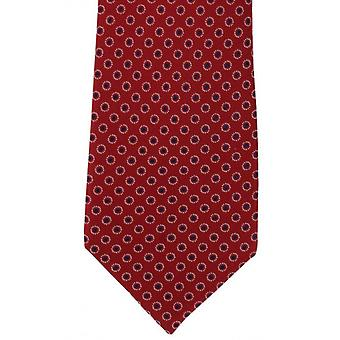 Michelsons of London Ring Spot Silk Tie - Red