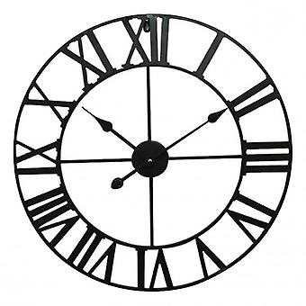 Balance wall clock 60 cm Analog Black